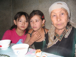 Kyrgyz Woman and Girls