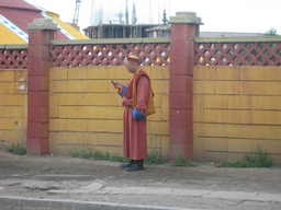 Monk on Cell Phone